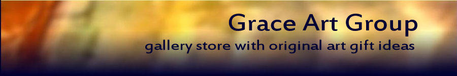 Banner for Grace Art Group, San Francisco original art cards and books