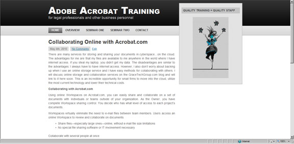 Adobe Acrobat Training website and acrobat articles