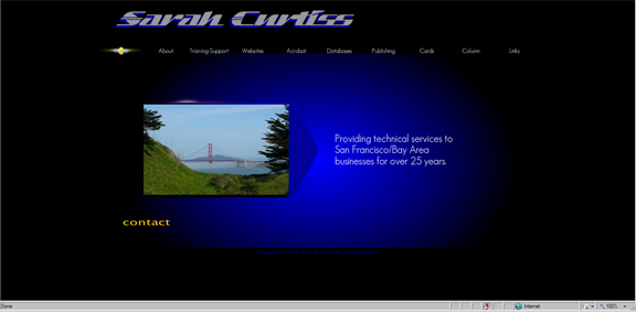 Sarah Curtiss Technical Consultant website
